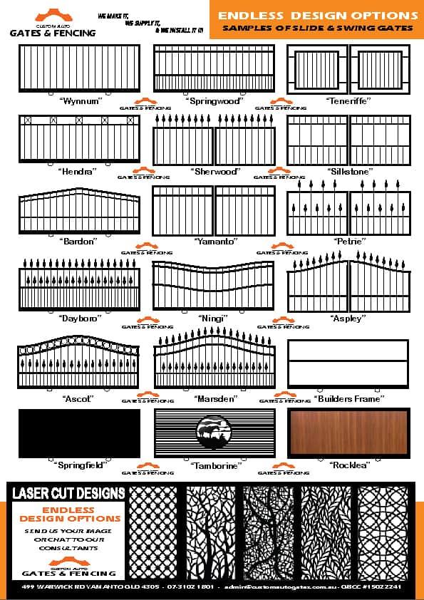 sample of gate designs