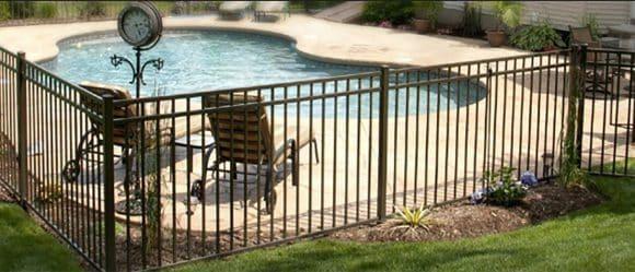 Aluminium Pool Fencing Balck with dual top rail