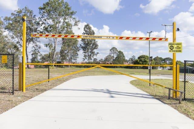 Simple car park security gates