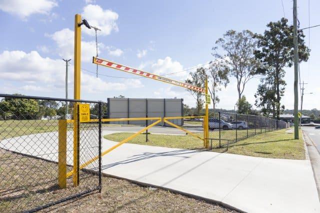 Car park entry gates