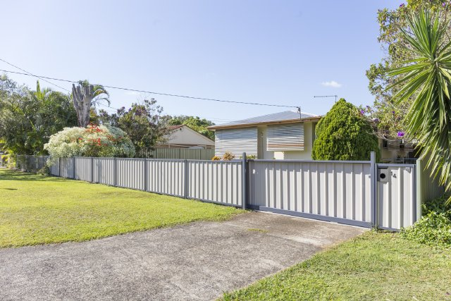 Colorbond front fence and gate