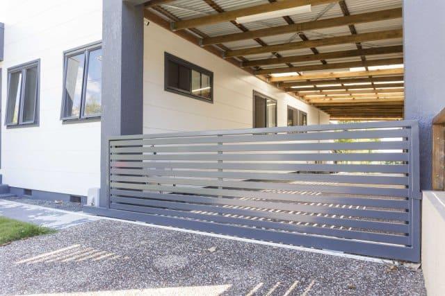 Horizontal Slat Gate sliding Aluminium